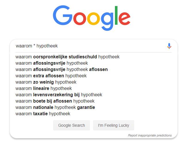 Geavanceerd zoeken naar longtail keywords