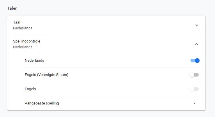 Google Spellingscontrole